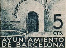 La Façana Gòtica de l'Ajuntament de Barcelona, Catalunya, 1938-1939