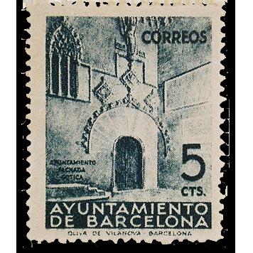 The Ajuntament de Barcelona's gothic façade