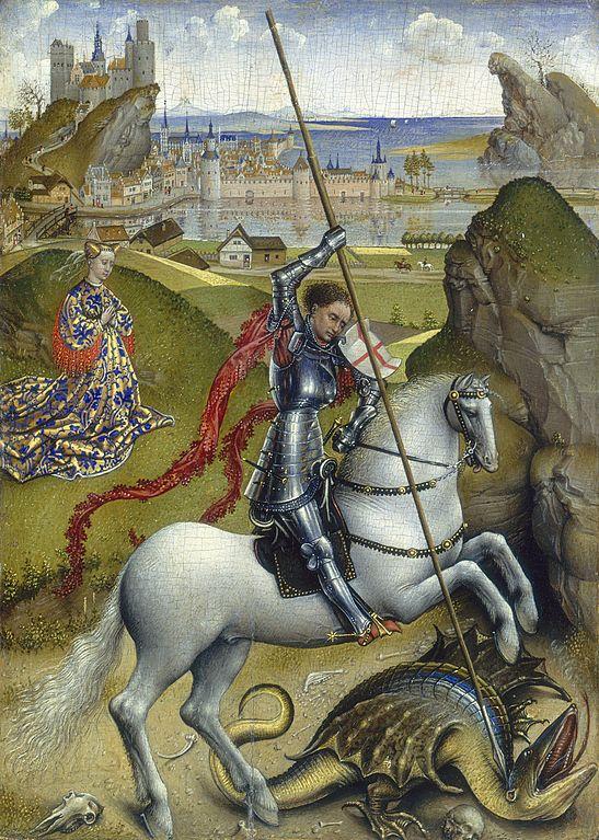 Sant Jordi i el drac, Rogier van der Weyden, c. 1432 - 1435. National Gallery of Art