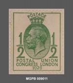 1/2 penic Jordi V del Regne Unit. MGPB 009011