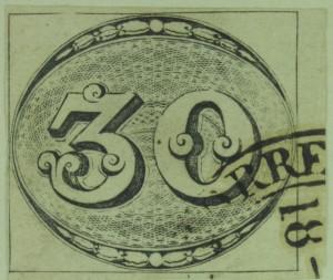 Segell del Brasil, 1843. Col·lecció Ramon Marull