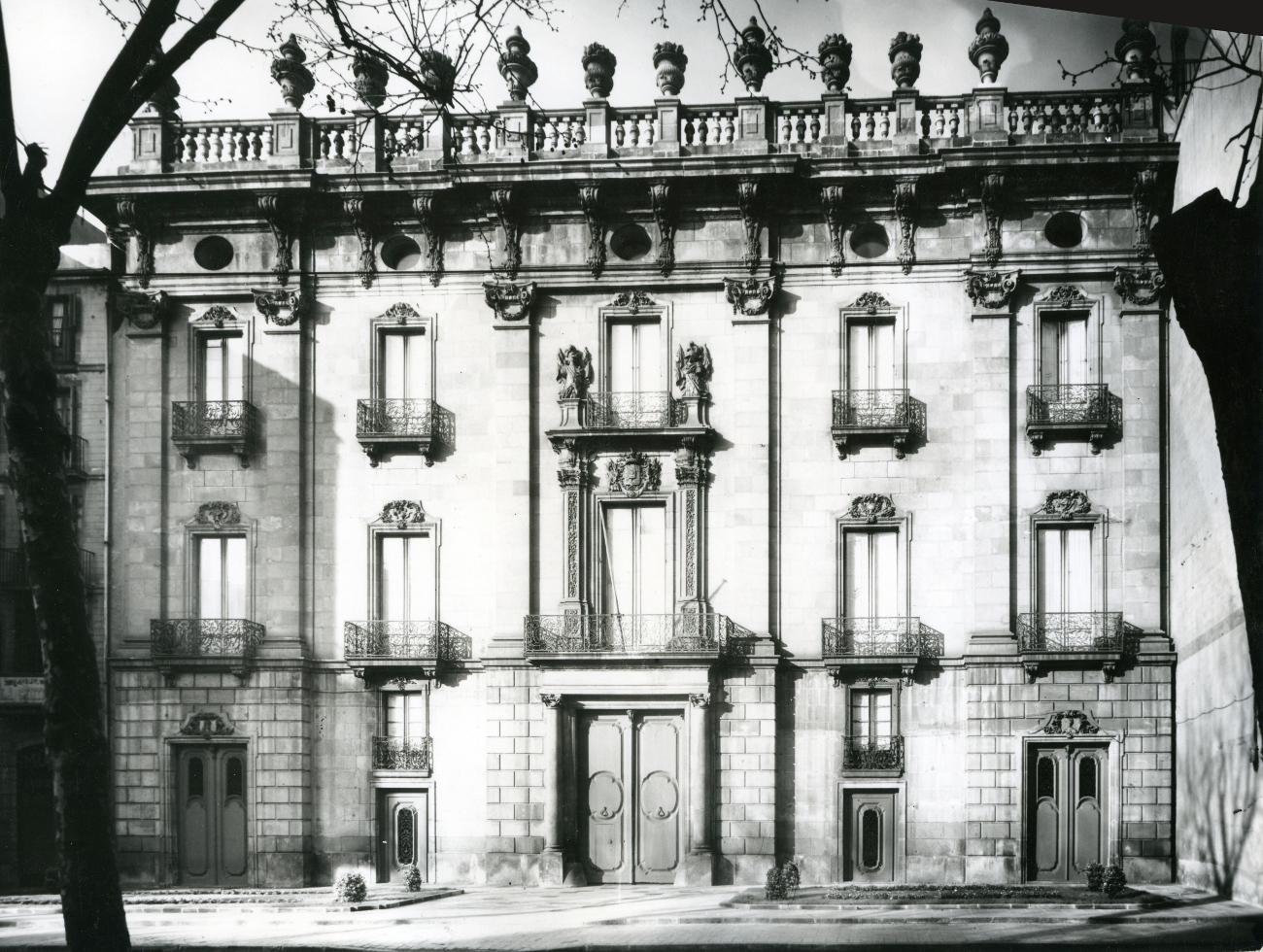 Palau de la Virreina, 1953. Font: AFB, C_2AF_161. Autor Desconegut