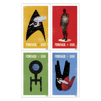 Saludo vulcaniano a los sellos de Star Trek