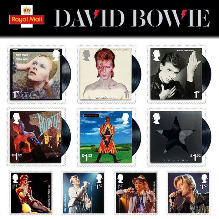 Sèrie filatèlica dedicada a David Bowie, Royal Mail.
