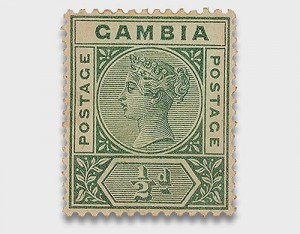 Victoria I of England, Gambia, 1898. Source: Ramon Marull's collection
