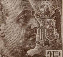 Segell emès durant el període de la dictadura franquista. Col·lecció filatèlica Ramon Marull