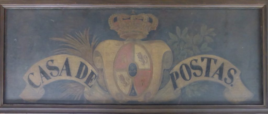 Rètol de l'última Casa de Postes de Barcelona, 1844. Col·lecció filatèlica Ramon Marull