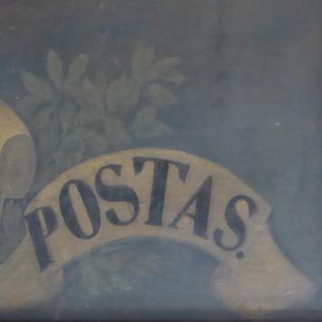 El rètol de l'última Casa de Postes de Barcelona