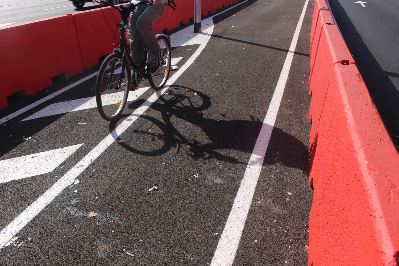 Carril bici en Glòries