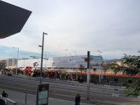 Imatge actual de la plaça de les Glòries. Desembre de 2014.