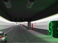 Interior de los túneles de Glòries