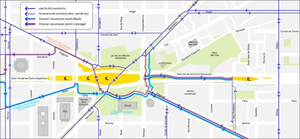Mapa Bicicletes
