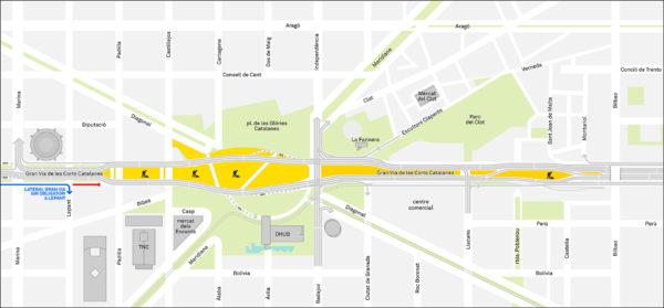 Mapa circulació de vehicles