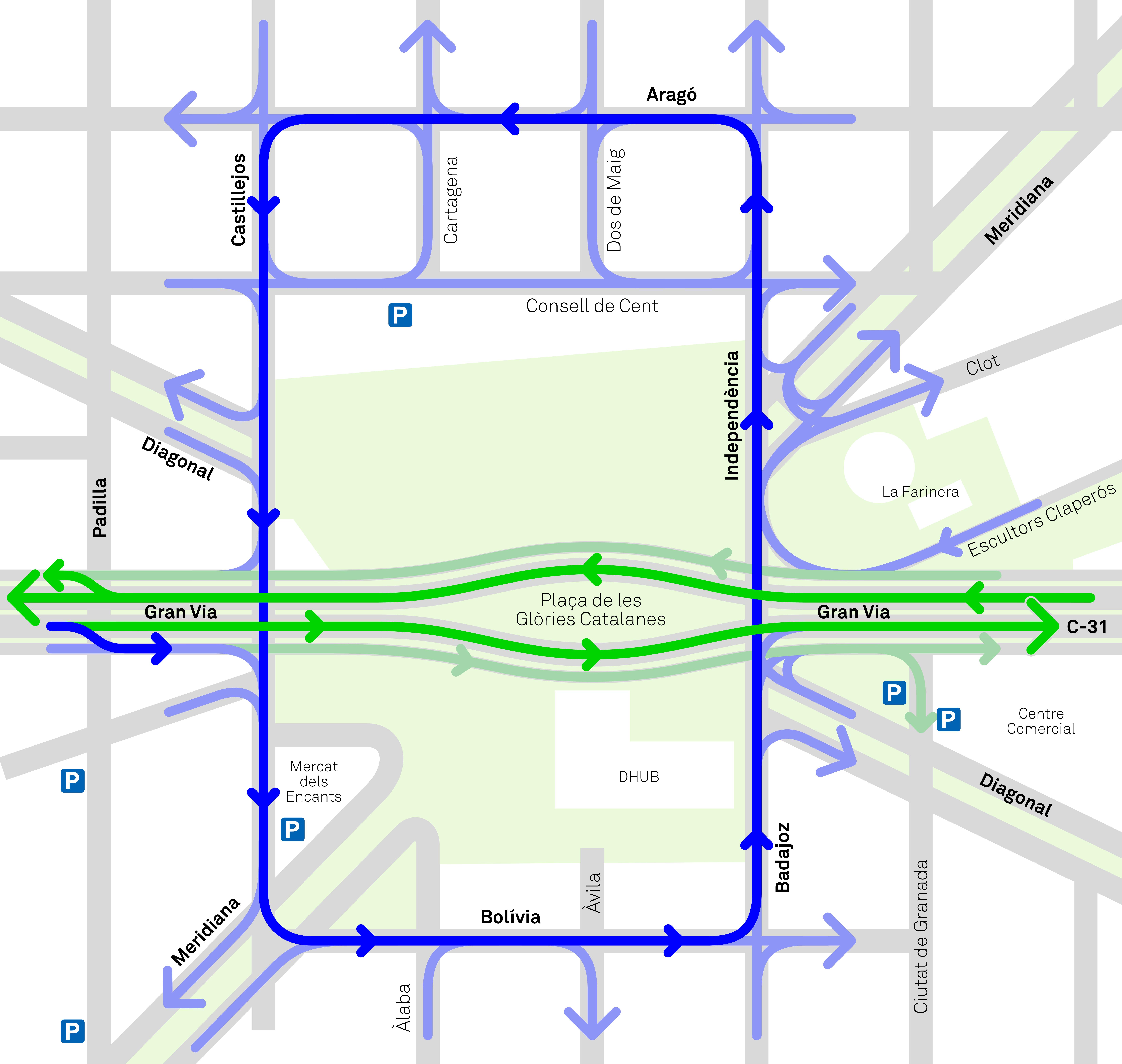 Mapa de movilidad de vehículos