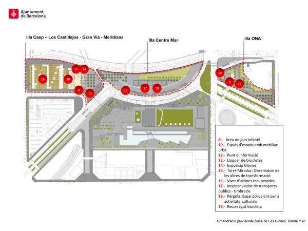 Plànol de la urbanització provisional banda mar
