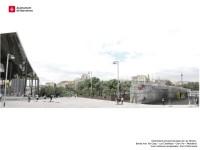 Imatge virtual de la urbanització provisional banda mar