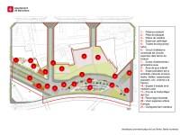 Plànol de la urbanització provisional banda muntanya