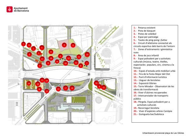 Plànol de la urbanització provisional