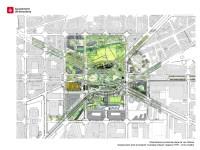Plànol de la urbanització provisional integrat amb Canòpia Urbana