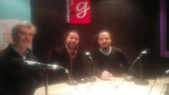 Carles Salat amb Jordin Nacenta i Carlos Mendoza d'Alma de Boquerón