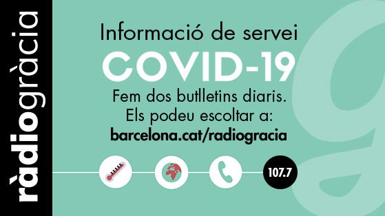 Ràdio Gràcia Covid-19 Bàner
