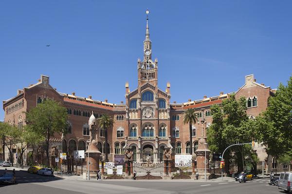 Façana modernista de l'Hospital de Sant Pau