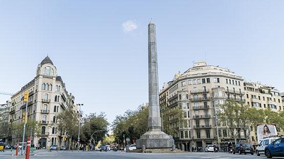 Imatge de la plaça del Cinc d'Oros