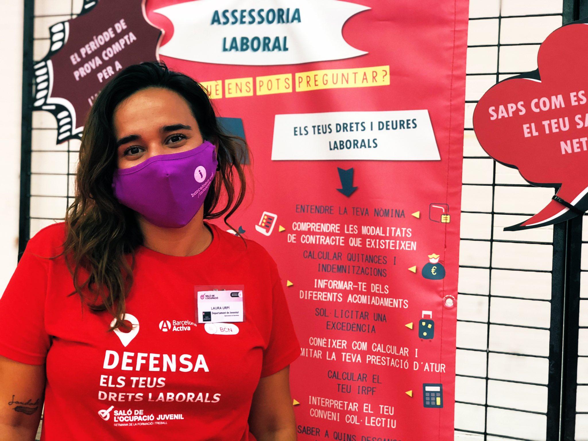 Assessoria laboral per a joves - Exposicio al Saló de l'Ocupacio