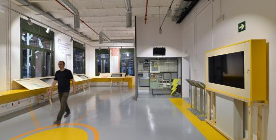 Vista de la sala d'interactius de La Fàbrica del Sol
