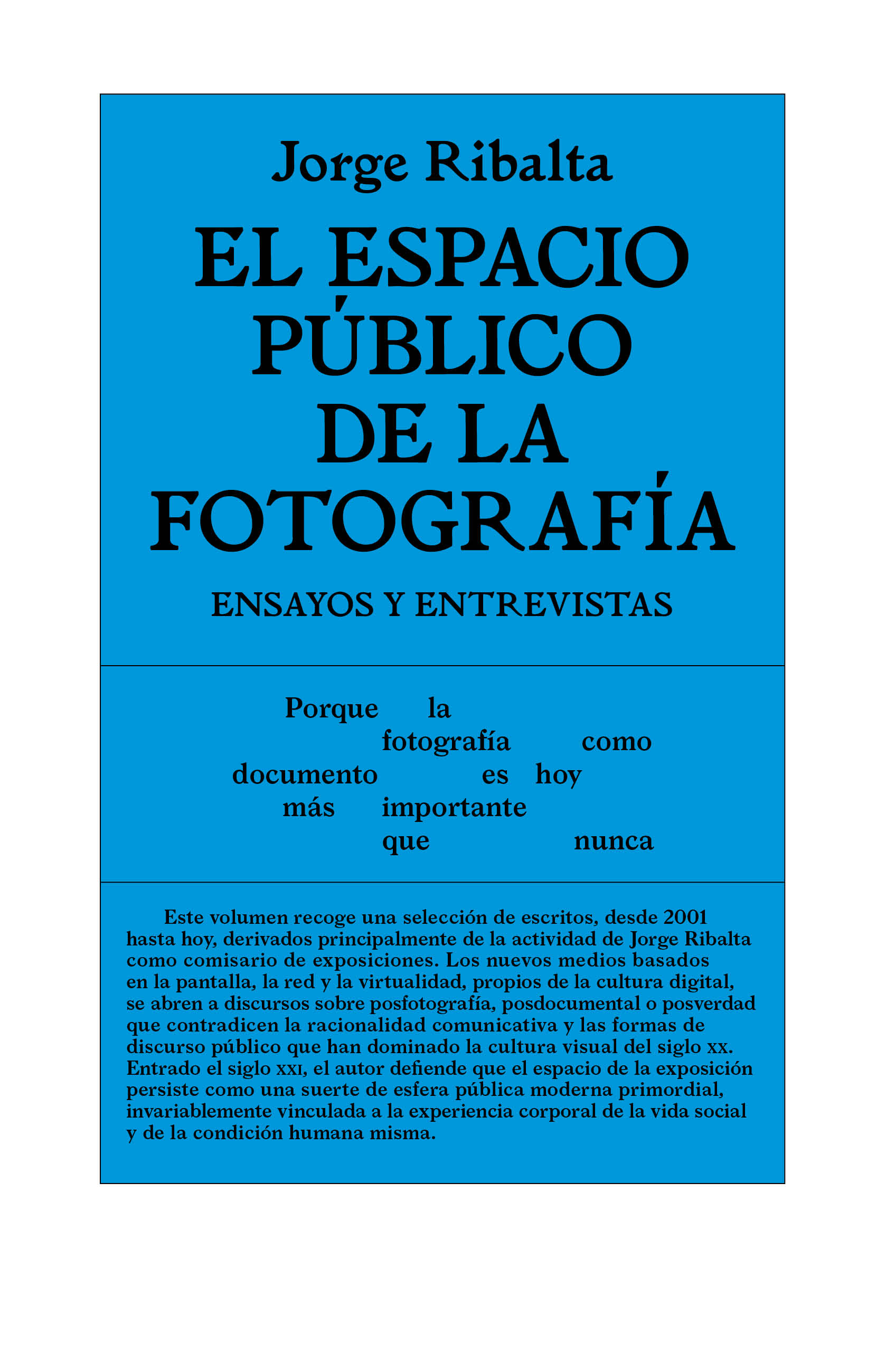 The Public Space of Photography. Essays and Interviews
