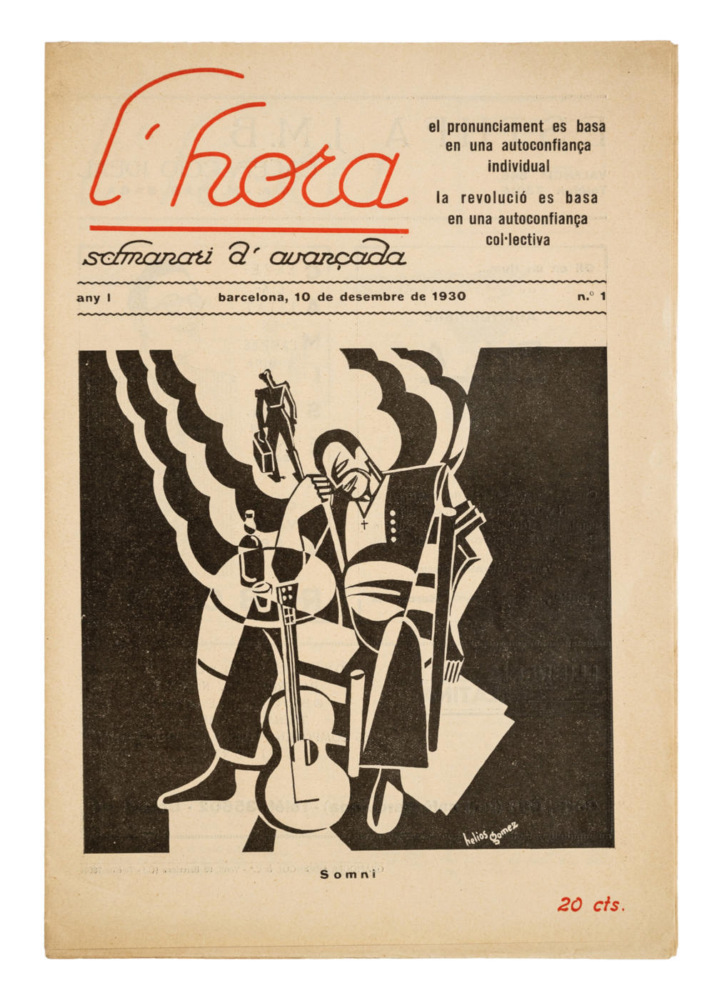 «Somni», portada de «L'Hora. Setmanari d'avançada» (Barcelona, 1931)