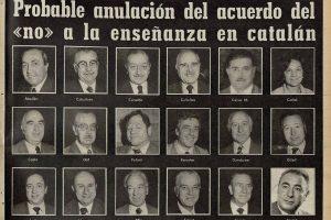 1975. Els regidors del NO al català
