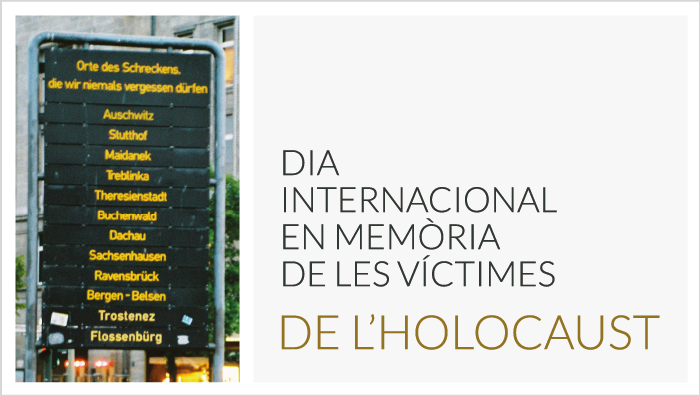 Dia Internacional en Memòria de les Víctimes de l'Holocaust 2018