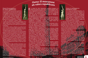 Flama: El monument als valors republicans