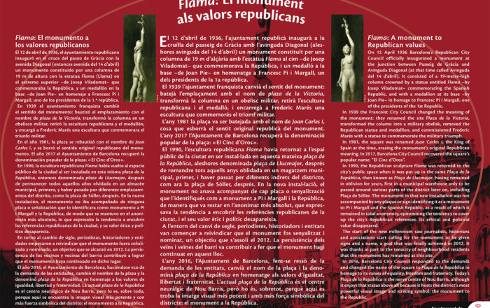 Flama: A monument to Republican values