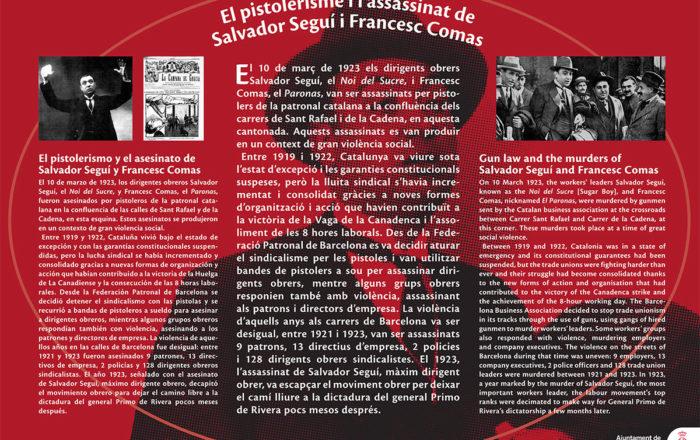 Gun law and the murders of Salvador Seguí and Francesc Comas