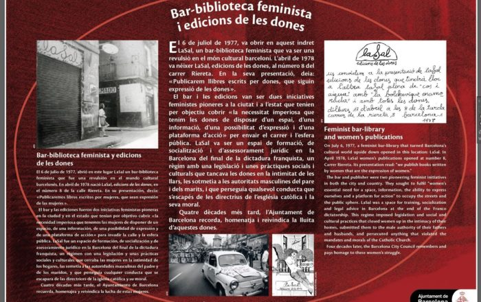 LaSal feminist bar-library and women's publications