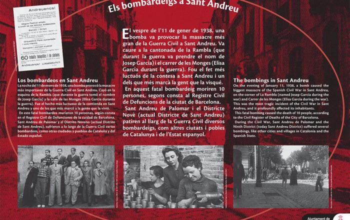Els bombardeigs a Sant Andreu