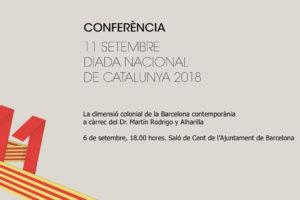 Conferència 11 de setembre de 2018