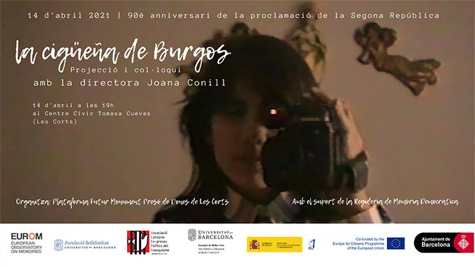 Projecció del documental La cigüeña de Burgos (2021) i col·loqui amb la seva directora, Joana Conill
