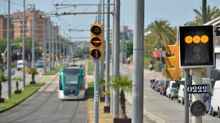 Tramvia i senyalització semafòrica