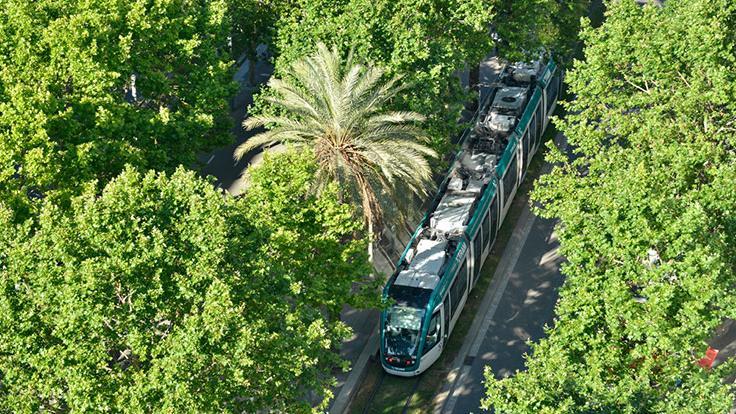 Vista aèria del tramvia