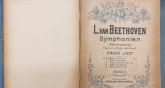 Portada de les simfonies de Beethoven transcrites per Liszt, al Fons Albéniz