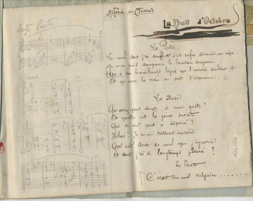 Manuscrit d'Enric Granados, núm. de registre 02.1763