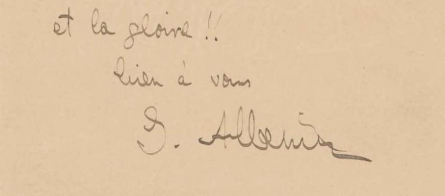Detall de la signatura d'isaac Albéniz al manuscrit