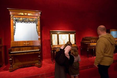 Pianos a l'exposició permanent