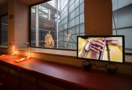 Fragment de vídeo a l'exposició Eolssigu (Foto: S. Guasteví)