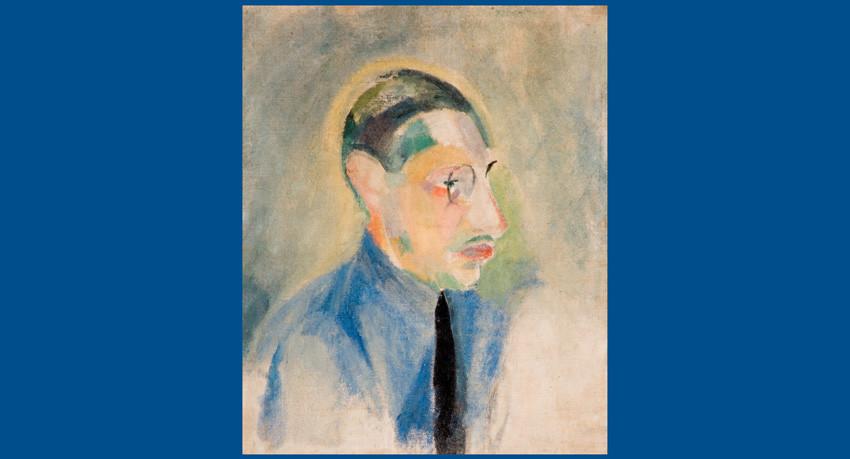Retrat de Stravinski fet per Robert Delaunay. Foto: Biblioteca de Catalunya