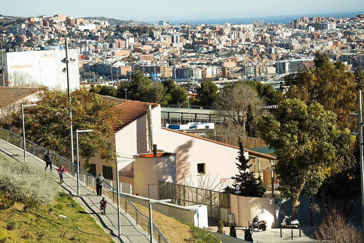 Panorámica del barrio de las Roquetes