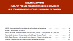 Portada del Resumen de actividades de las asociaciones de consumidores del Consejo Municipal de Consumo. 2009